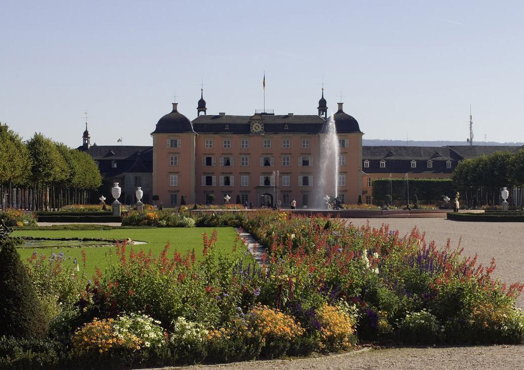 Gartenseite von Schloss Schwetzingen