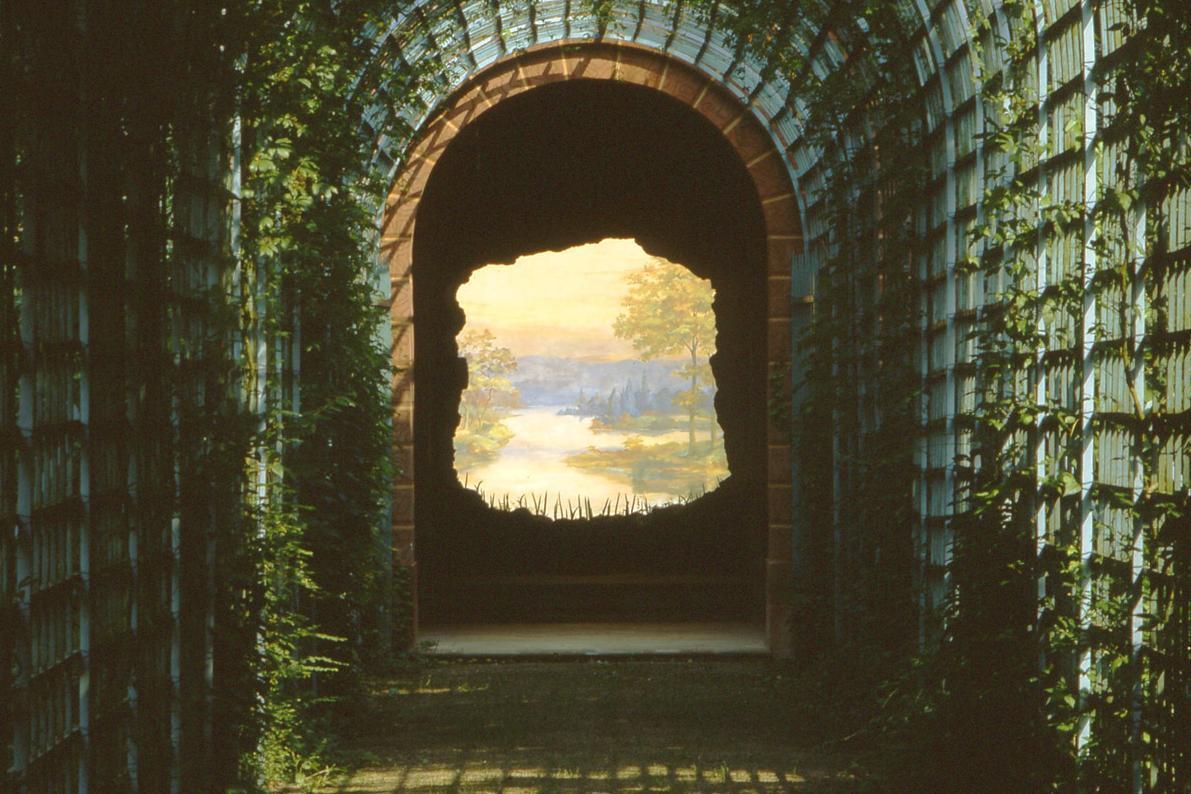 """Das """"Ende der Welt"""" im Schlossgarten von Schloss Schwetzingen; Foto: Staatliche Schlösser und Gärten Baden-Württemberg, Arnim Weischer"""