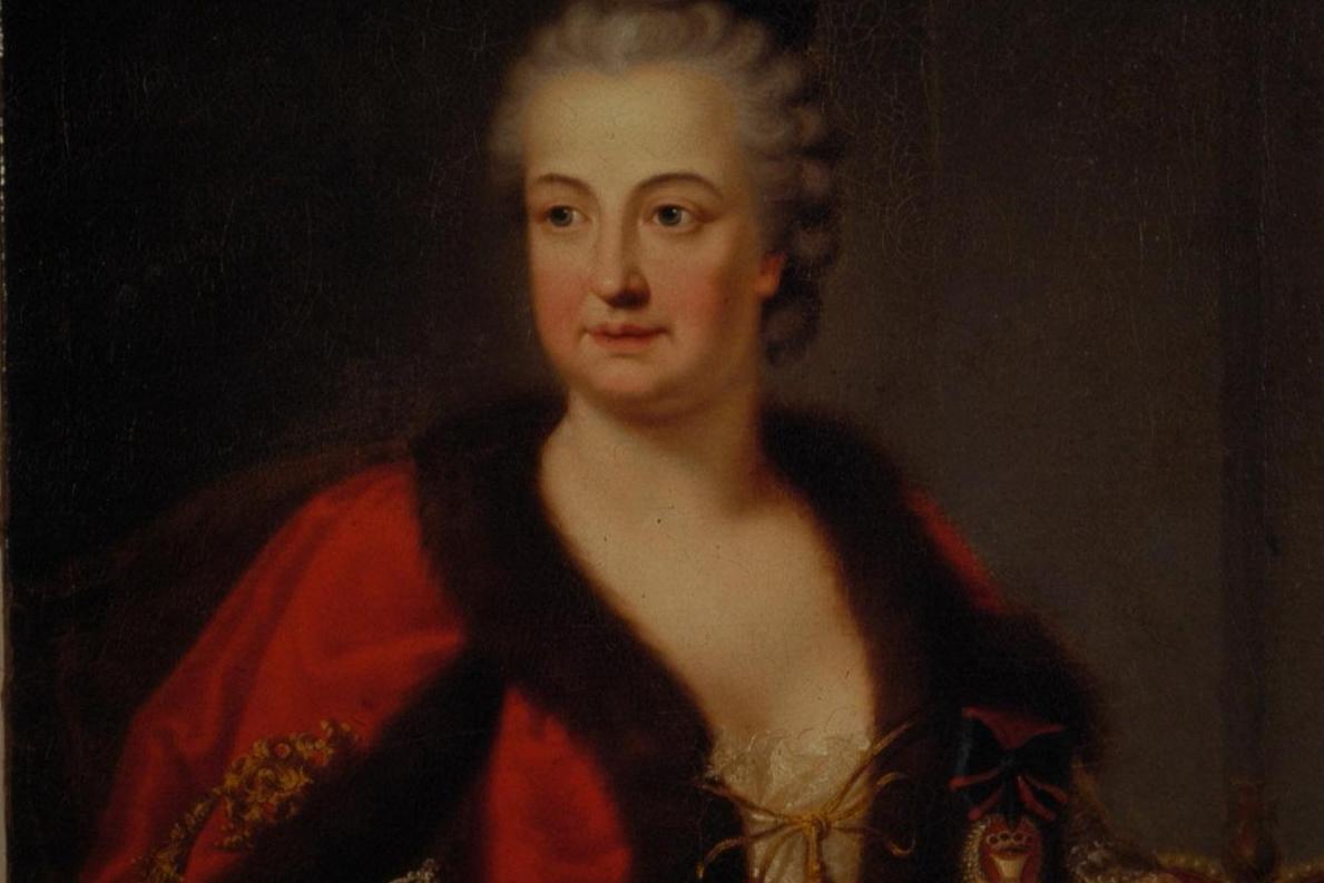 Porträt der Kurfürstin Elisabeth Augusta; Foto: Staatliche Schlösser und Gärten Baden-Württemberg, Arnim Weischer