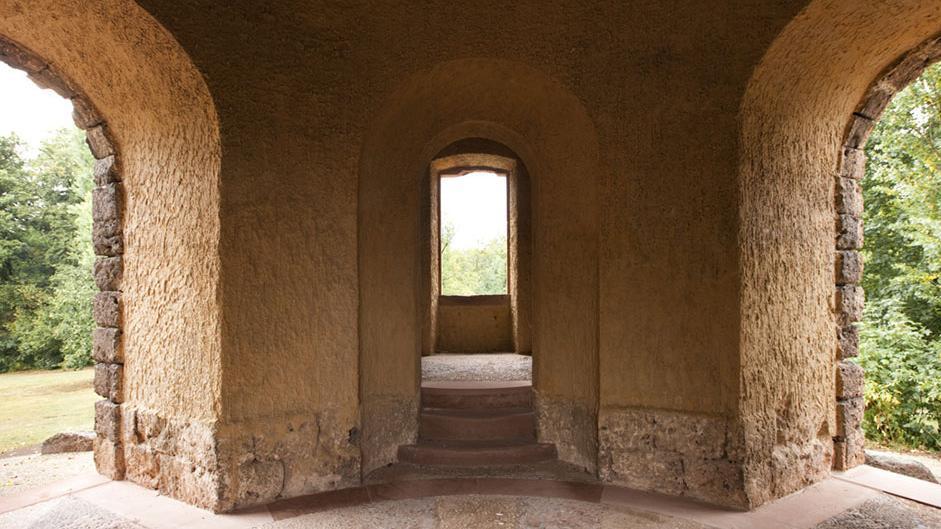 Erdgeschoss des Merkurtempels im Schwetzinger Schlossgarten