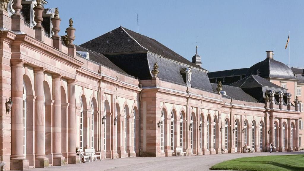 Schloss und Schlossgarten Schwetzingen, Außenansicht Zirkelbau; Foto: Landesmedienzentrum, Eberhard Späth