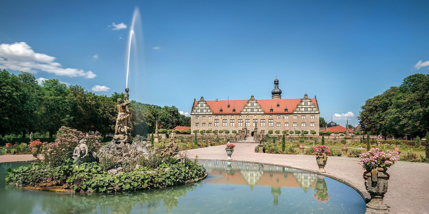 Weikersheim palace and garden; Photo: Staatliche Schlösser und Gärten Baden-Württemberg, Günter Bayerl
