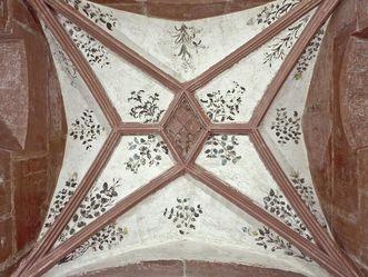 Kreuzrippengewölbe im Turmzimmer von Schloss Schwetzingen