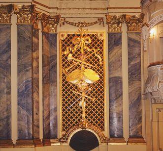 Schwetzingen Palace, Rococo theatre stage detail; Photo: Staatliche Schlösser und Gärten Baden-Württemberg, Steffen Hauswirth