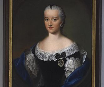 Bildnis der Hofdame Maria Leopoldina Gräfin von Thurn und Taxis in der Galerie der Hofdamen im Schloss Schwetzingen