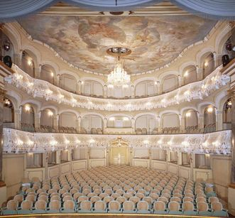 Schwetzingen Palace, auditorium in the Rococo theatre