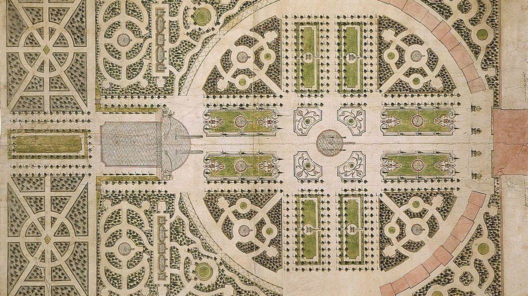 Historische Ansicht des Gartenplans