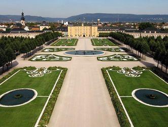 Außenansicht Schloss und Schlossgarten Schwetzingen