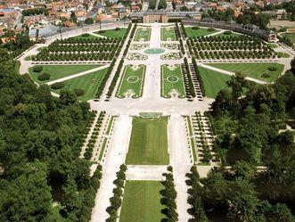 Schloss und Schlossgarten Schwetzingen, Luftbild