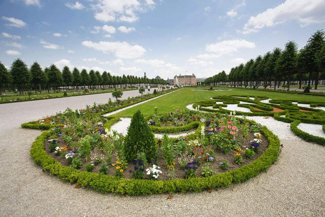 Schwetzingen Palace and Gardens, View of the palace gardens