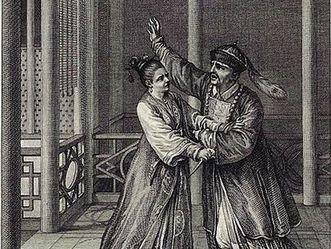 Illustration zum Orphelin de la Chine 1786  (Jean-Michel  Moreau)