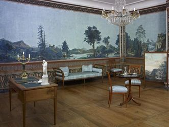 Blick in das Hochberg-Appartement im Schloss Schwetzingen