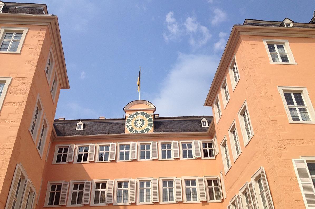 Schloss Schwetzingen, Ehrenhofseite