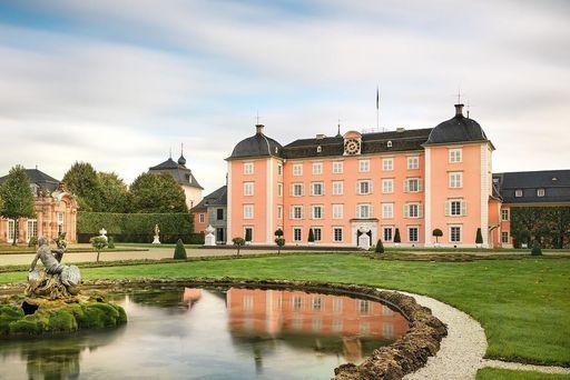 Château de Schwetzingen, côté jardin; l'image: Staatliche Schlösser und Gärten Baden-Württemberg, Günther Bayerl