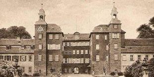 Schloss Schwetzingen, Motiv auf einer Postkarte etwa um 1900