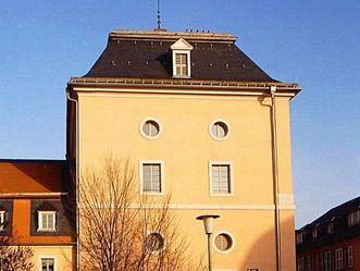 Wasserturm am oberen Wasserwerk im Schlossgarten von Schloss Schwetzingen