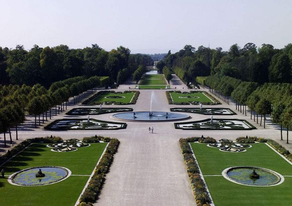 Schwetzingen Palace and Gardens, Aerial view of the gardens