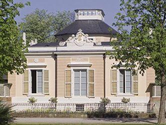 Das Badhaus im Schlossgarten von Schloss Schwetzingen