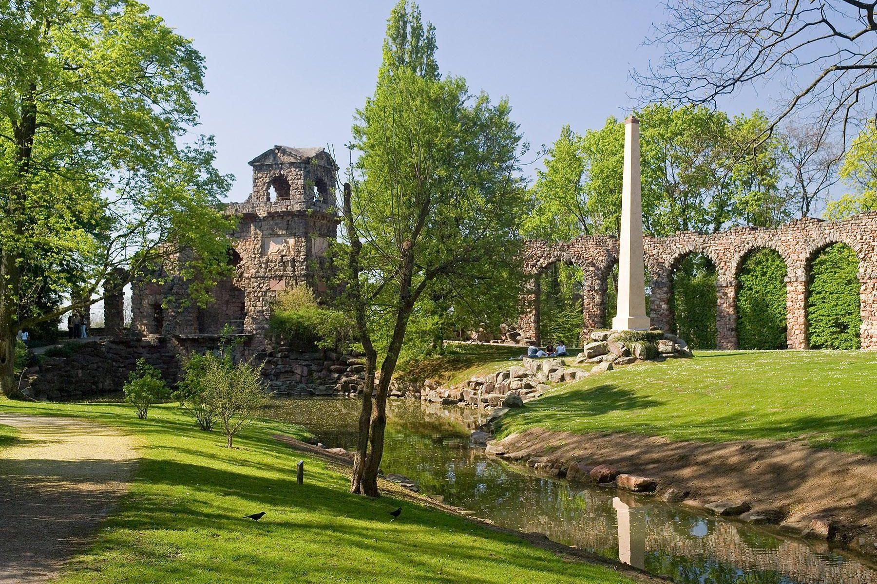 Schloss und Schlossgarten Schwetzingen, Römische Wasserleitung; Foto: Staatliche Schlösser und Gärten Baden-Württemberg, Arnim Weischer