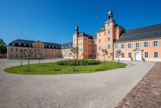 Schwetzingen Palace and Gardens, a look at the cour d'honneur