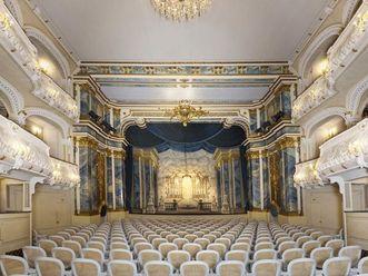 Blick in den Zuschauerraum des Schlosstheaters von Schloss Schwetzingen