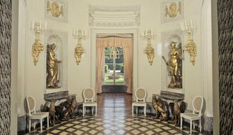 Schwetzingen Palace, the Oval Room in the Bath House