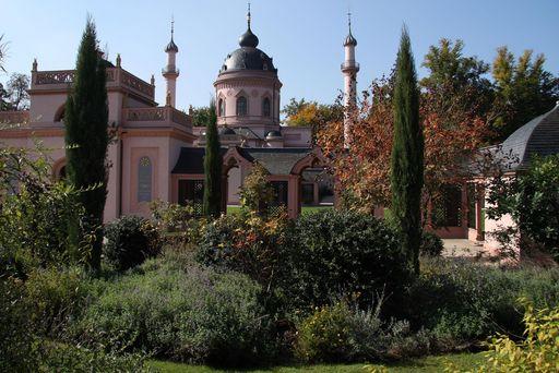 Türkischer Garten bei der Gartenmoschee im Schlossgarten Schwetzingen
