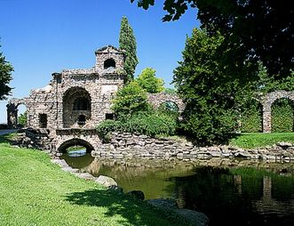 Schloss und Schlossgarten Schwetzingen, Römische Wasserleitung; Foto: Staatliche Schlösser und Gärten Baden-Württemberg, Andrea Rachele