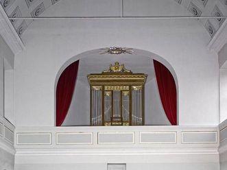 Kasettendecke in der Schlosskapelle von Schloss Schwetzingen