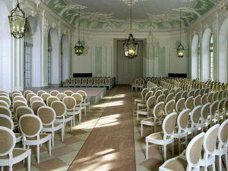 Jagdsaal im südlichen Zirkelbau von Schloss Schwetzingen