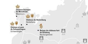 """Carte de région """"MANNHEIM ET SA RÉGION"""""""