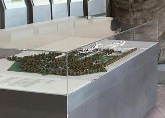 Modell in der Ausstellung Gartendokumentation; Foto: Staatsanzeiger für Baden-Württemberg, Petra Schaffrodt