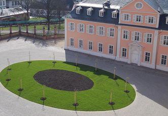 Ostseite Schloss Schwetzingen; Foto: Staatliche Schlösser und Gärten Baden-Württemberg, Thorsten Kögel