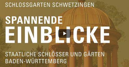 """Startbildschirm des Filmes """"Spannende Einblick mit Michael Hörrmann: Schlossgarten Schwetzingen"""""""